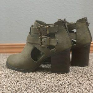 Army green heels